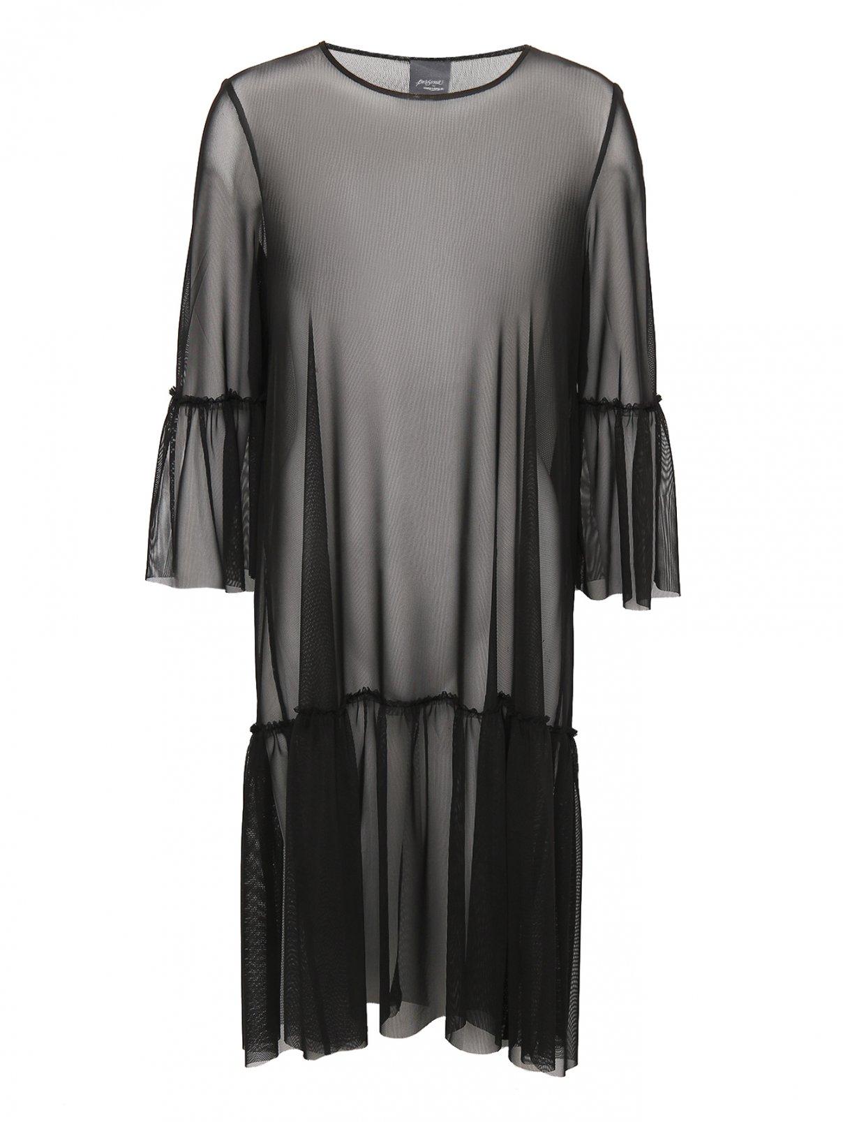 Трикотажное полупрозрачное платье Persona by Marina Rinaldi  –  Общий вид