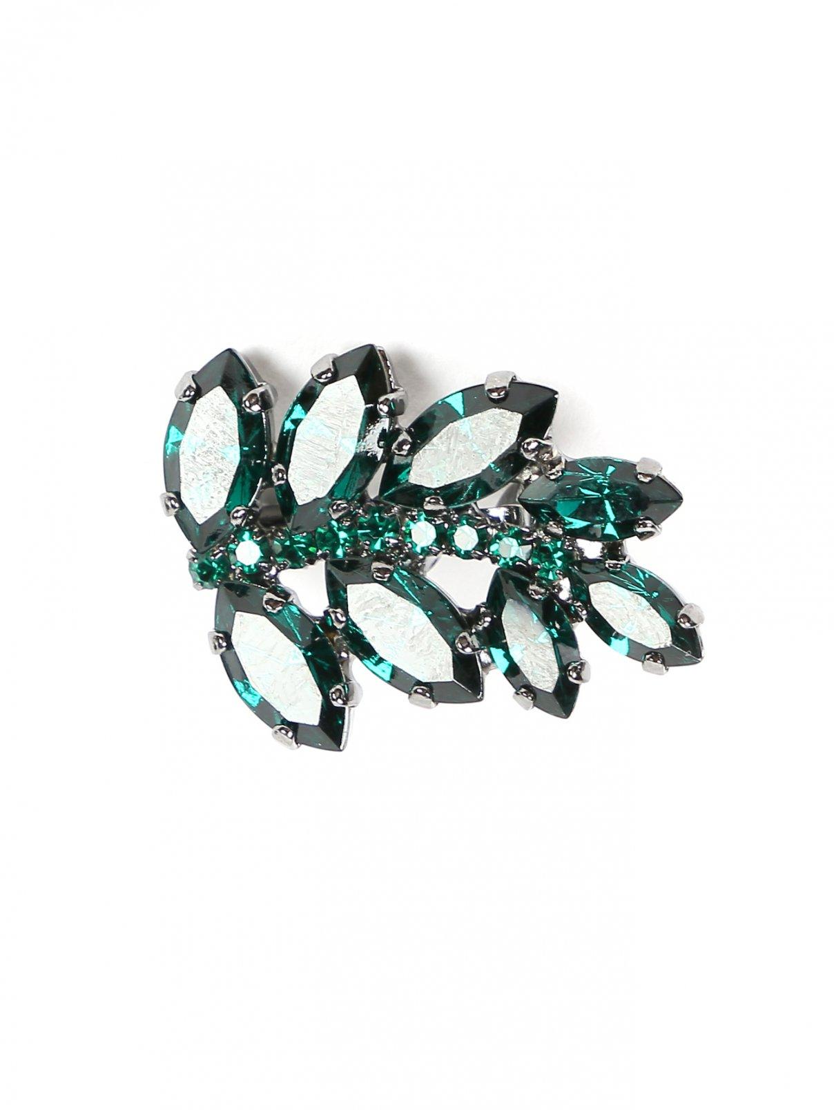 Брошь декорированная кристаллами Ermanno Scervino  –  Общий вид