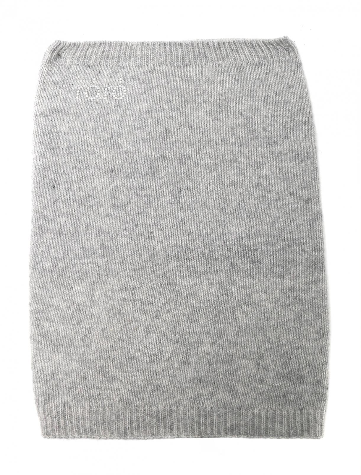 Шарф-снуд трикотажный с узором RoRo  –  Общий вид