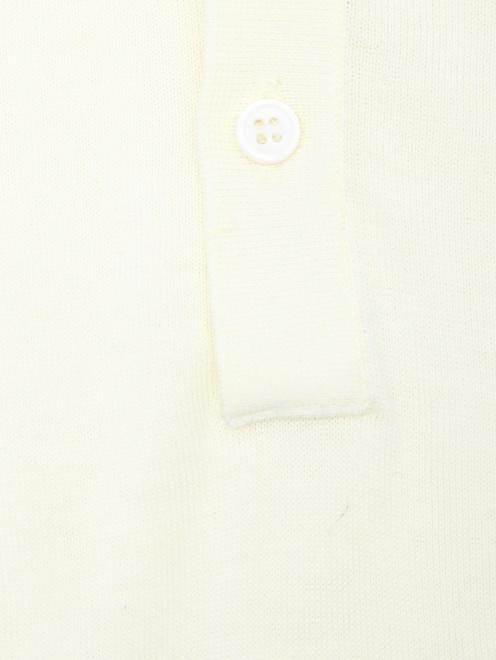 Поло из шелка Kangra Cashmere - Деталь
