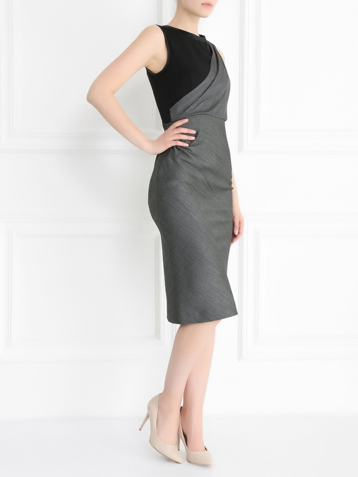 Платье-футляр из смешанной шерсти Sportmax  –  Модель Общий вид
