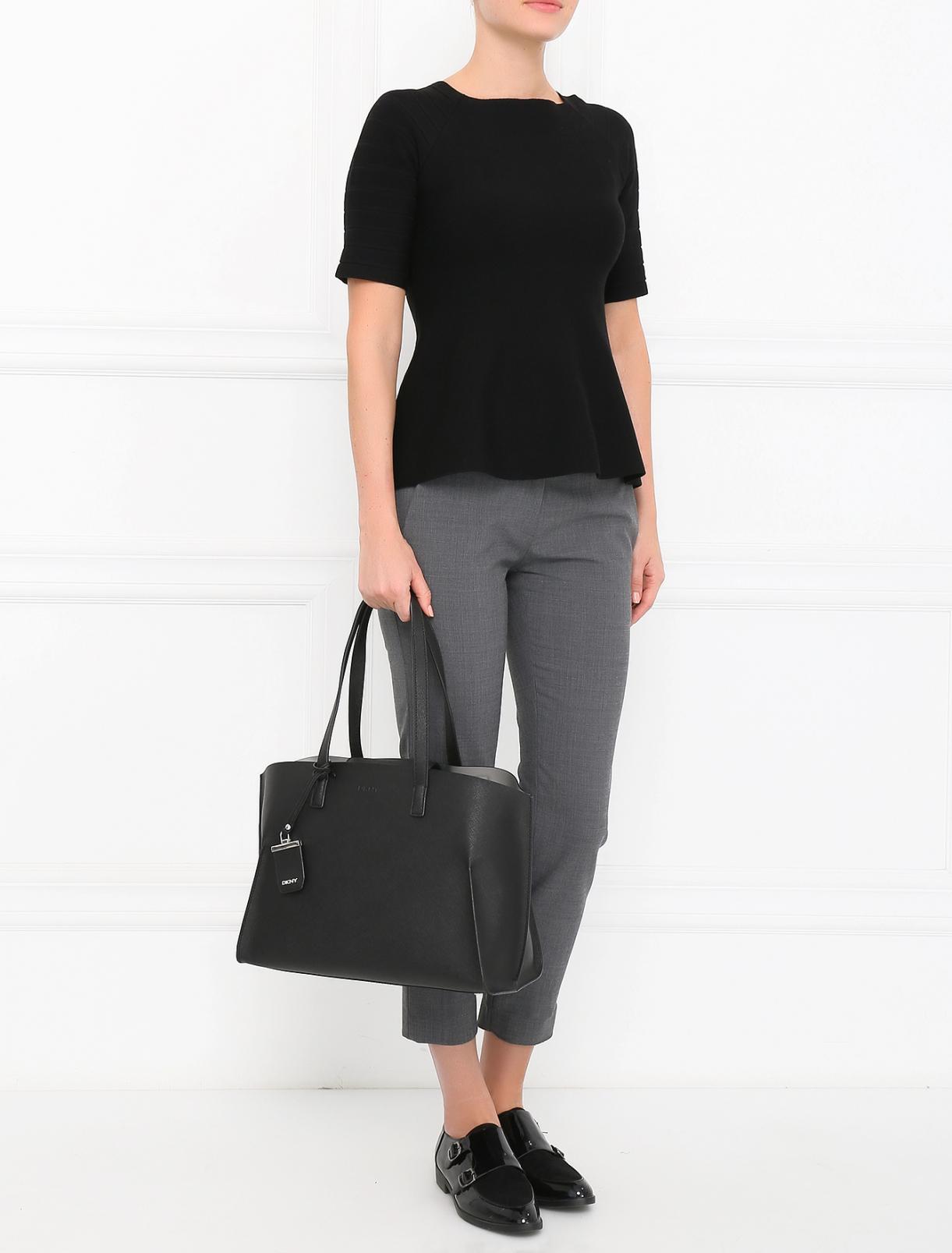 Джемпер из шерсти с короткими рукавами Emporio Armani  –  Модель Общий вид