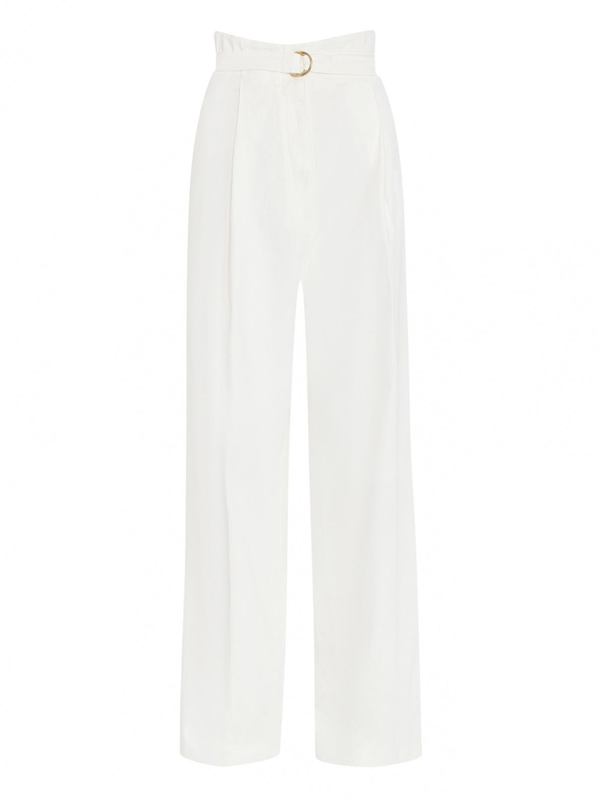 Широкие джинсы из светлого денима Philosophy Di Lorenzo Serafini  –  Общий вид