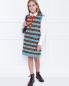 Платье из шерсти с узором Gucci  –  МодельОбщийВид
