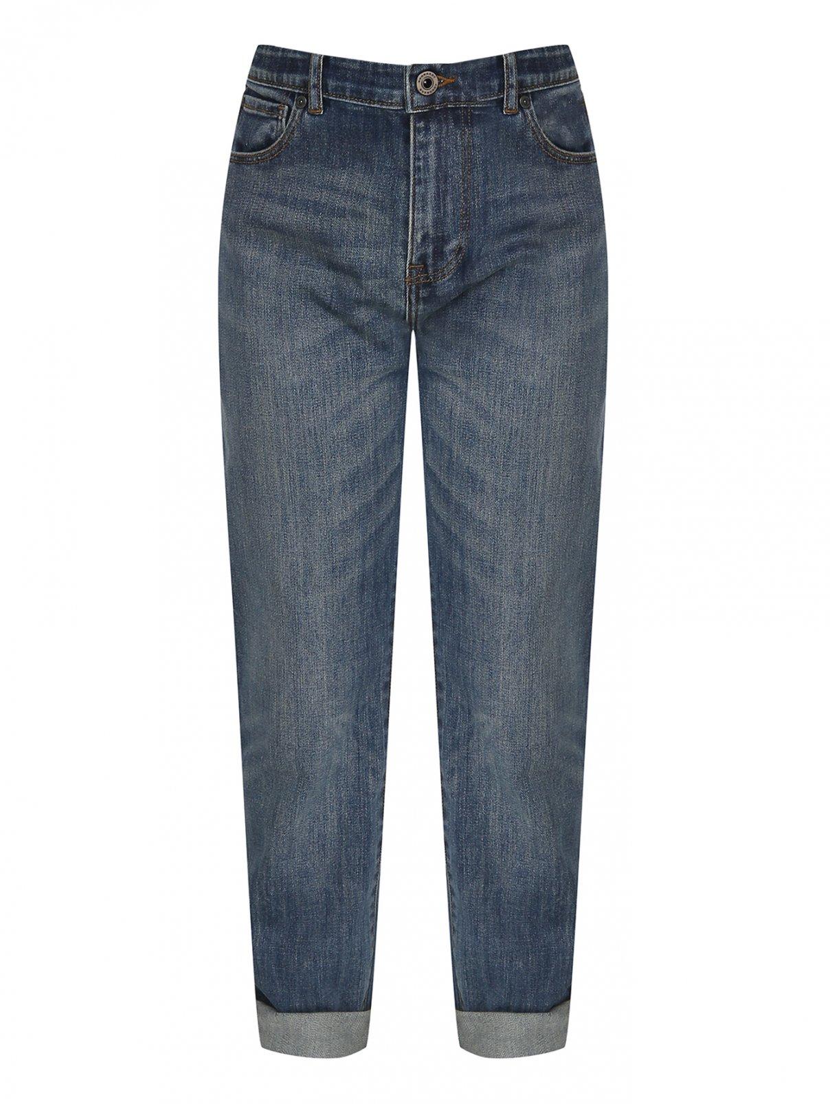 Широкие джинсы из плотного денима Burberry  –  Общий вид