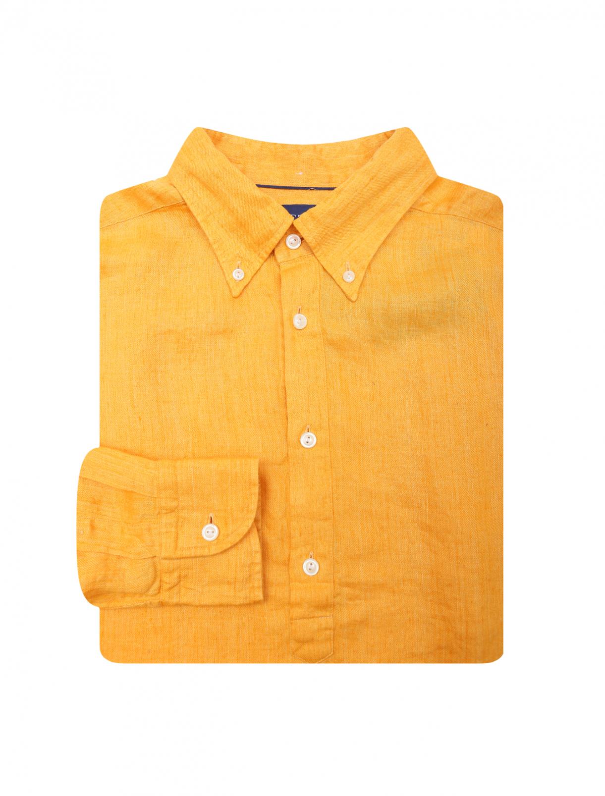 Льняная однотонная рубашка Eton  –  Общий вид