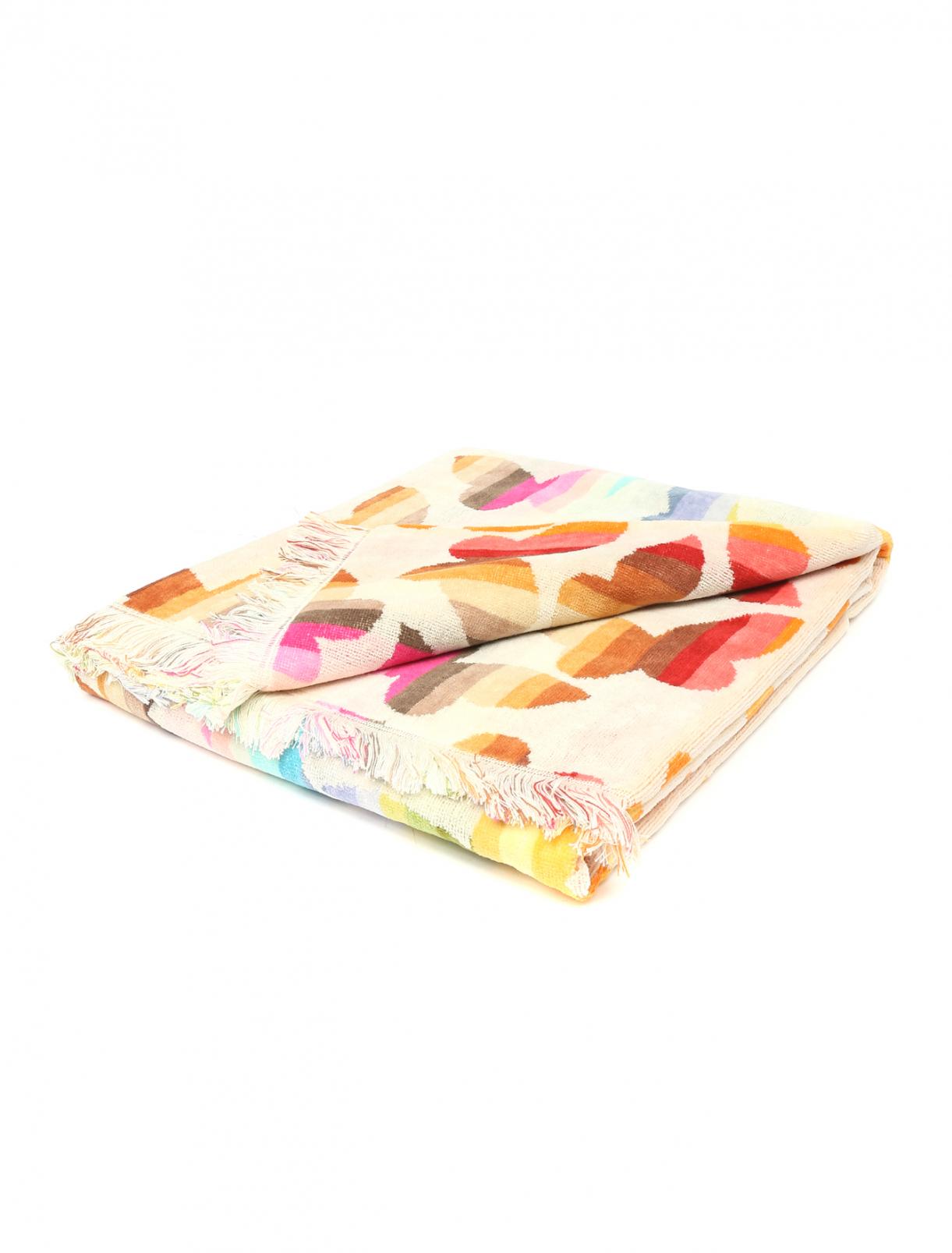 Полотенце в полоску с узором из бабочек Missoni  –  Общий вид