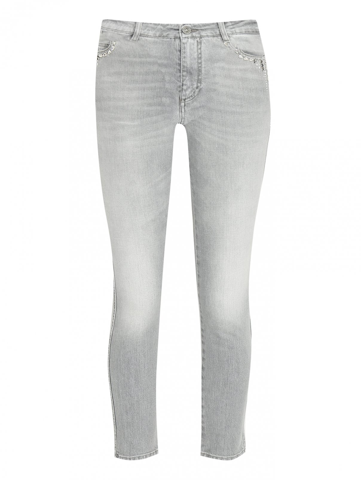 Укороченные джинсы декорированные кристаллами Ermanno Scervino  –  Общий вид