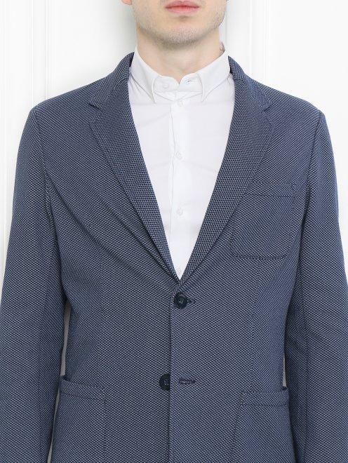Пиджак из хлопка с узором - МодельОбщийВид1