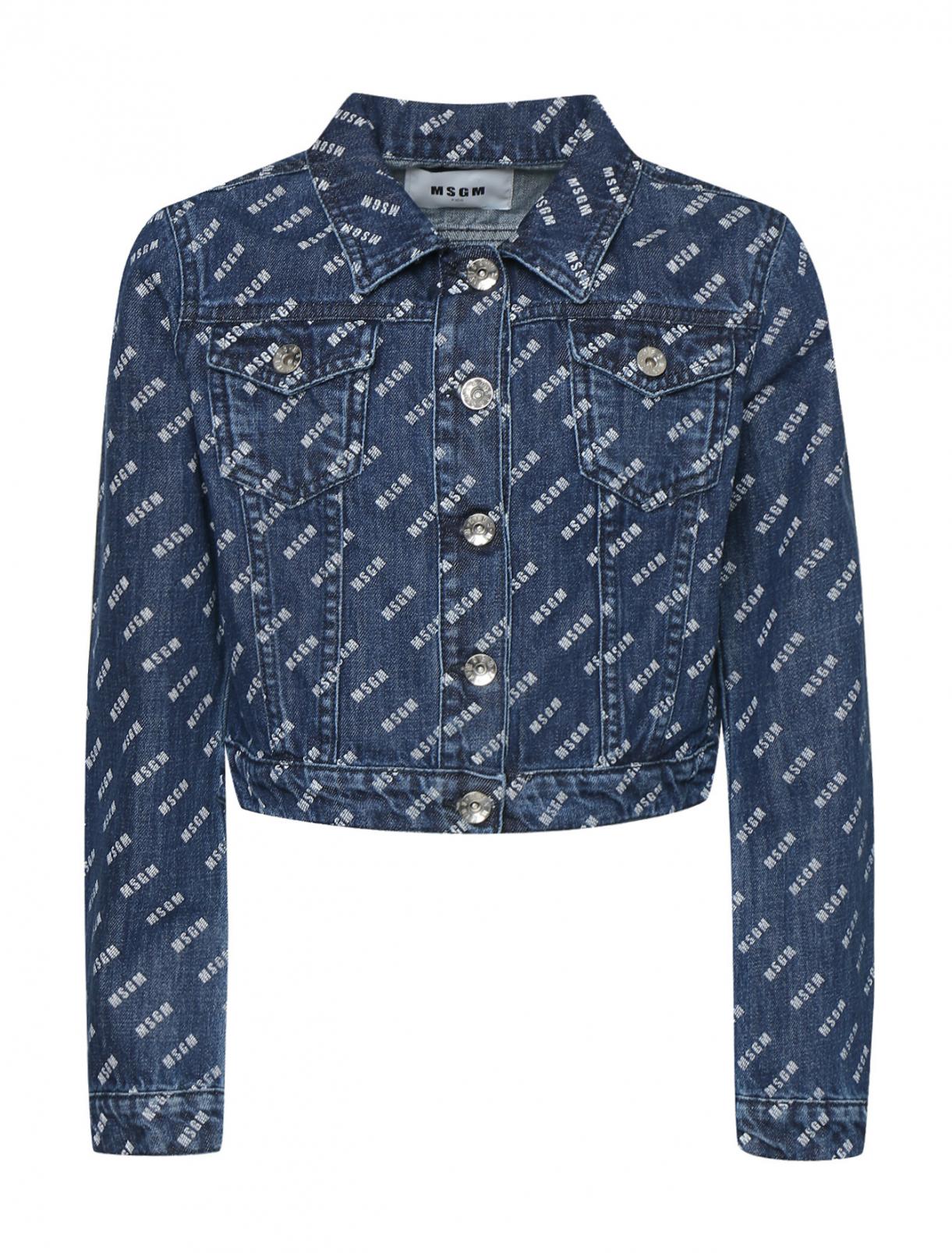 Куртка из денима с принтом MSGM  –  Общий вид