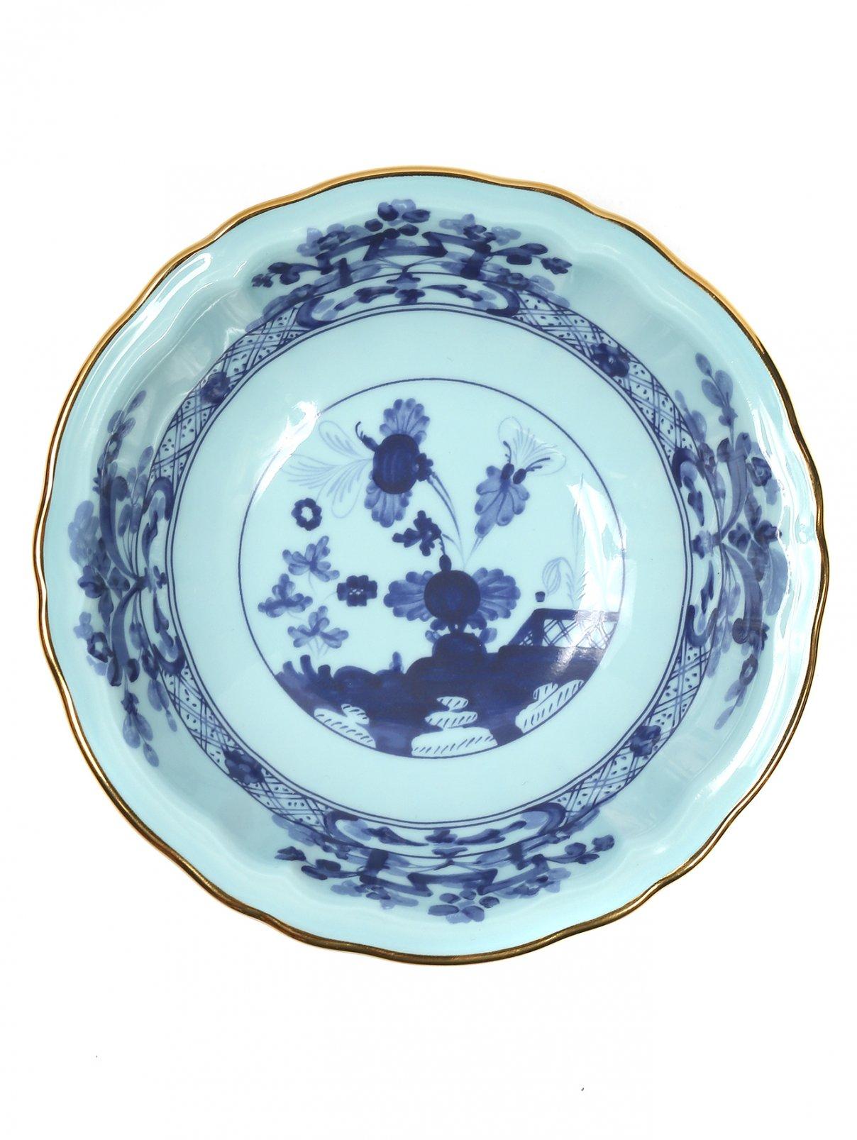 Тарелка для фруктов с узором и золотой окантовкой Richard Ginori 1735  –  Общий вид