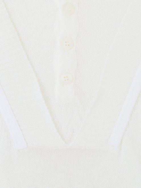 Джемпер с узорной и пуговицами на груди  - Деталь1