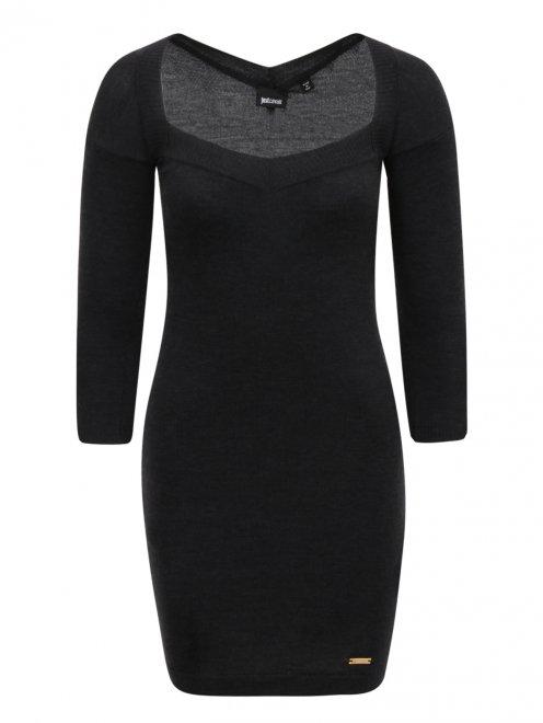 Платье-мини из шерсти - Общий вид