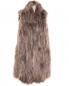 Удлиненный жилет из натурального меха Itakli  –  Общий вид
