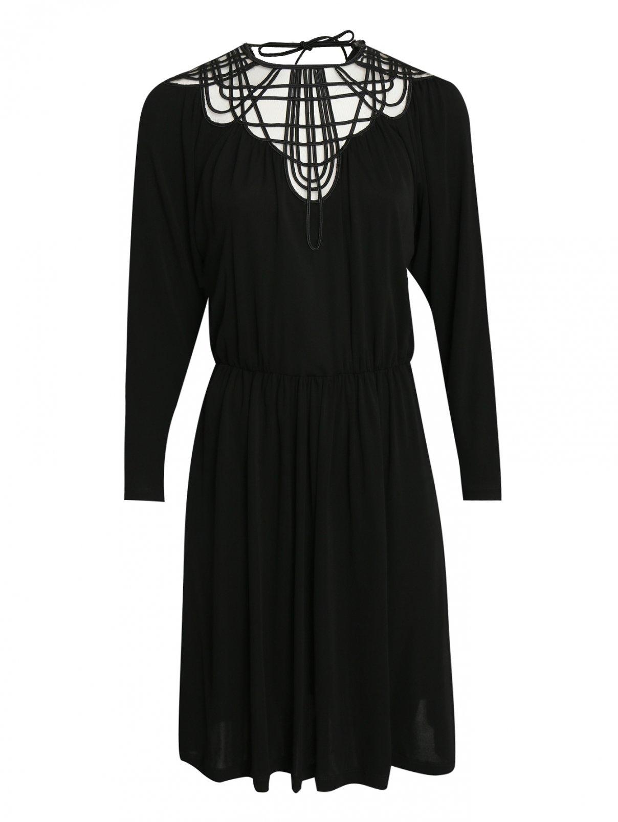 Платье из вискозы с вышивкой Alberta Ferretti  –  Общий вид