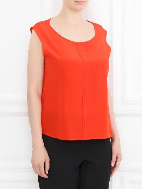 Блуза из шелка с дополнительными рукавами - МодельВерхНиз
