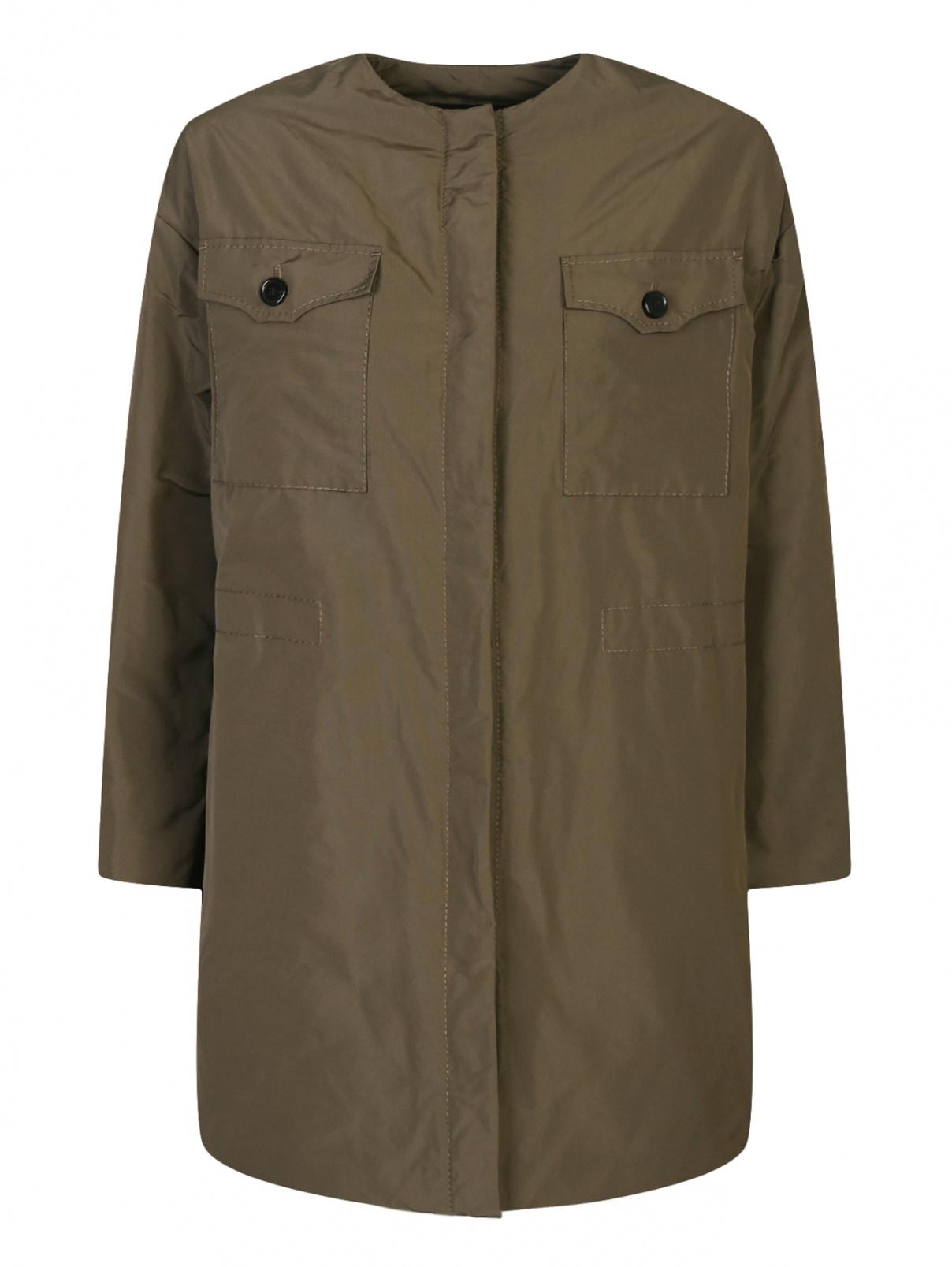 Куртка-oversize с накладными карманами Rochas  –  Общий вид