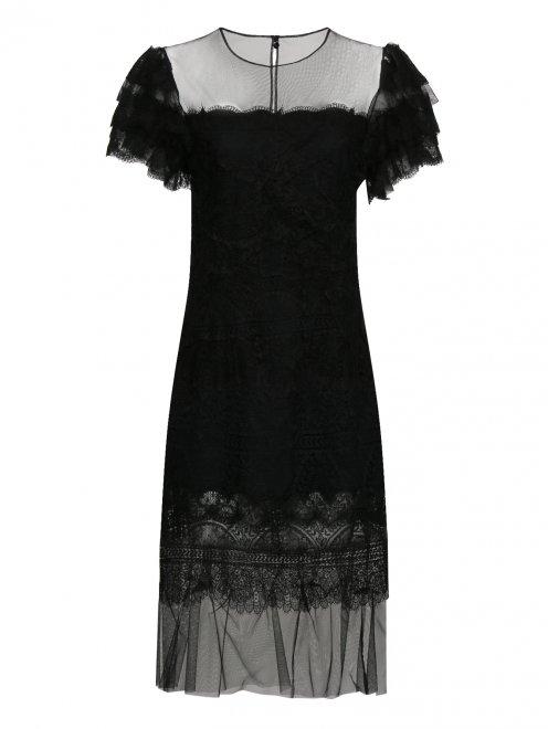 Платье из смеси шелка и кружева - Общий вид