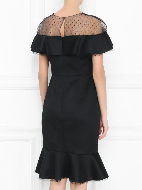 Платье-мини с полупрозрачной вставкой - МодельВерхНиз1