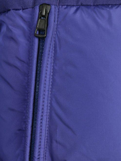 Пуховик на молнии с капюшоном Moncler - Деталь
