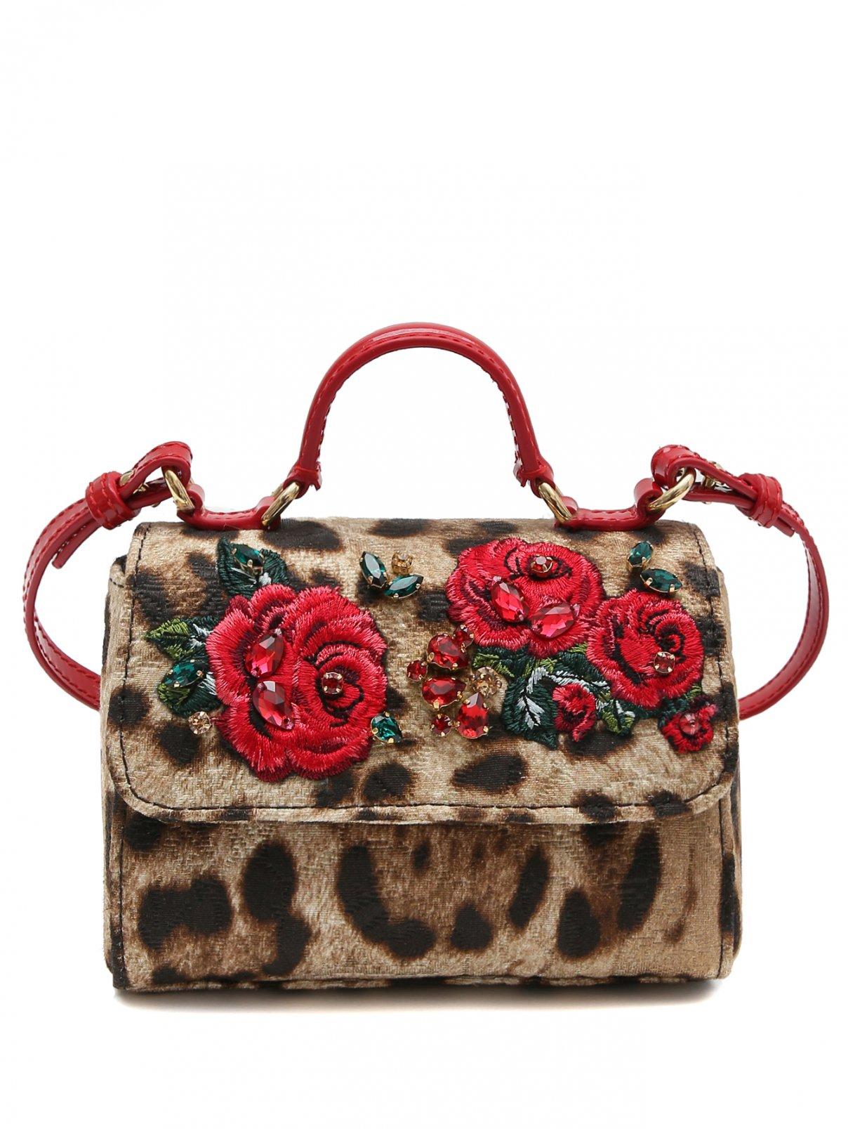 Сумка-мини из жаккарда с аппликацией Dolce & Gabbana  –  Общий вид