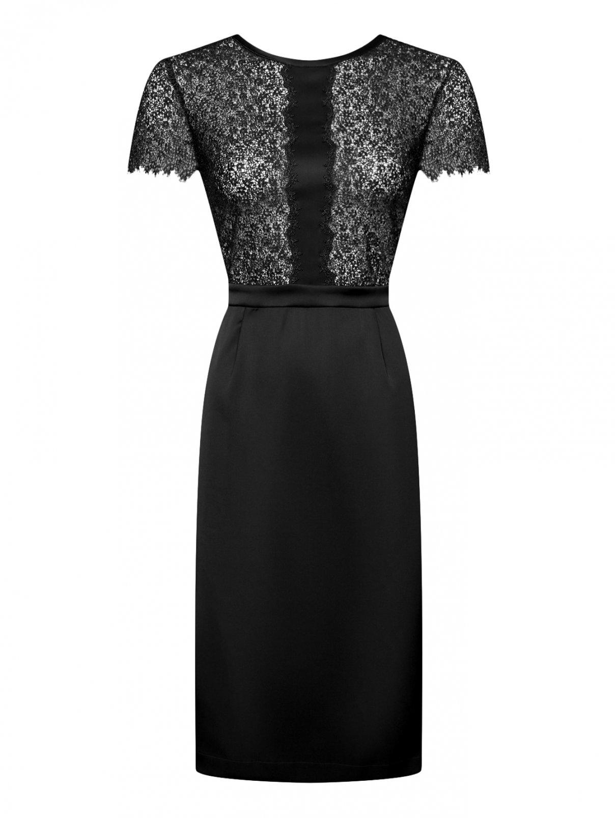 Платье из шелка с ажурной отделкой La Perla  –  Общий вид