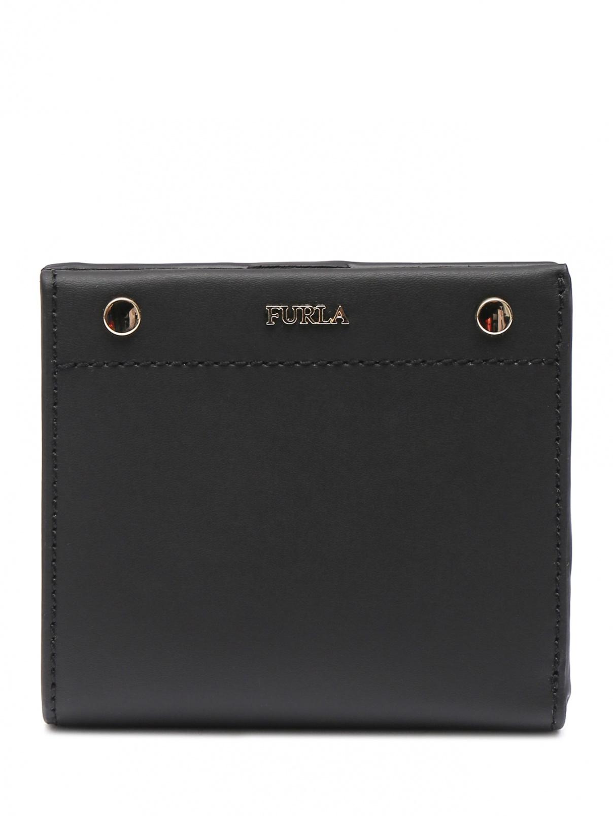 Кошелек из кожи на кнопке Furla  –  Общий вид