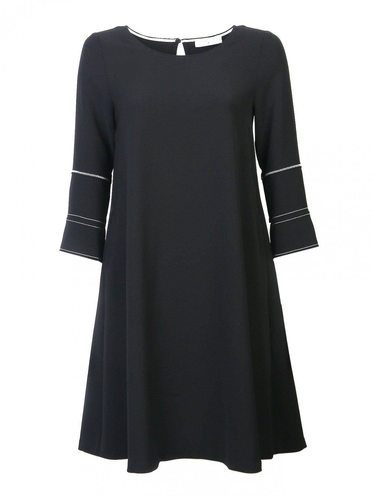Платье силуэта трапеция с контрастной отстрочкой Beatrice  –  Общий вид