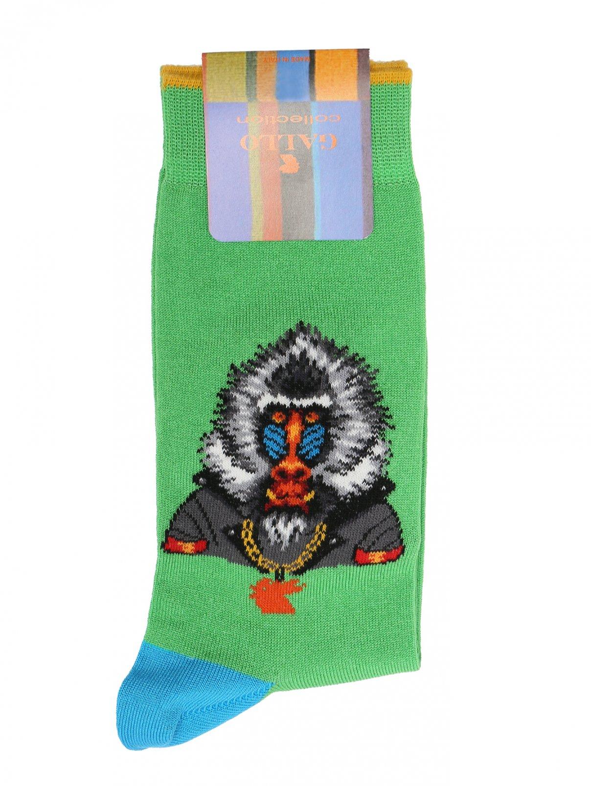 Носки из хлопка с узором Gallo  –  Общий вид