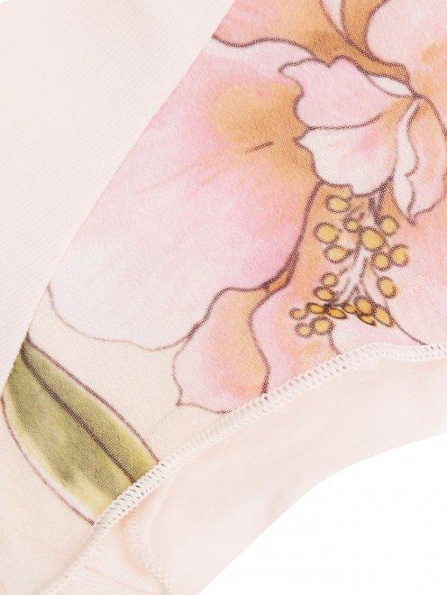 Пижама трикотажная с цветочным узором La Perla - Деталь1