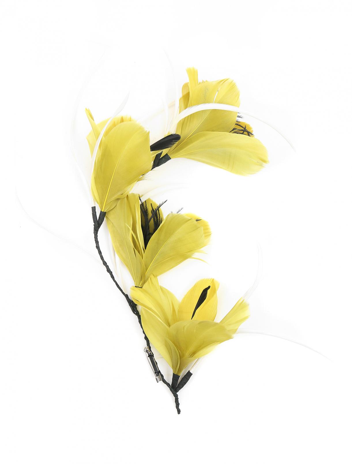 Брошь из перьев в форме цветов Marina Rinaldi  –  Общий вид